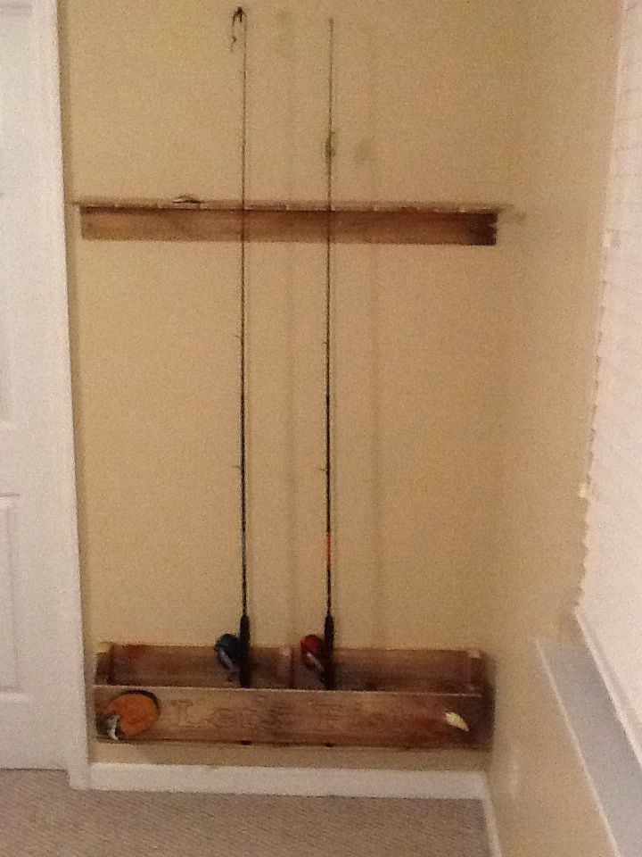 Wall Mounted Fishing Rod Rack Plans Woodworking Projects