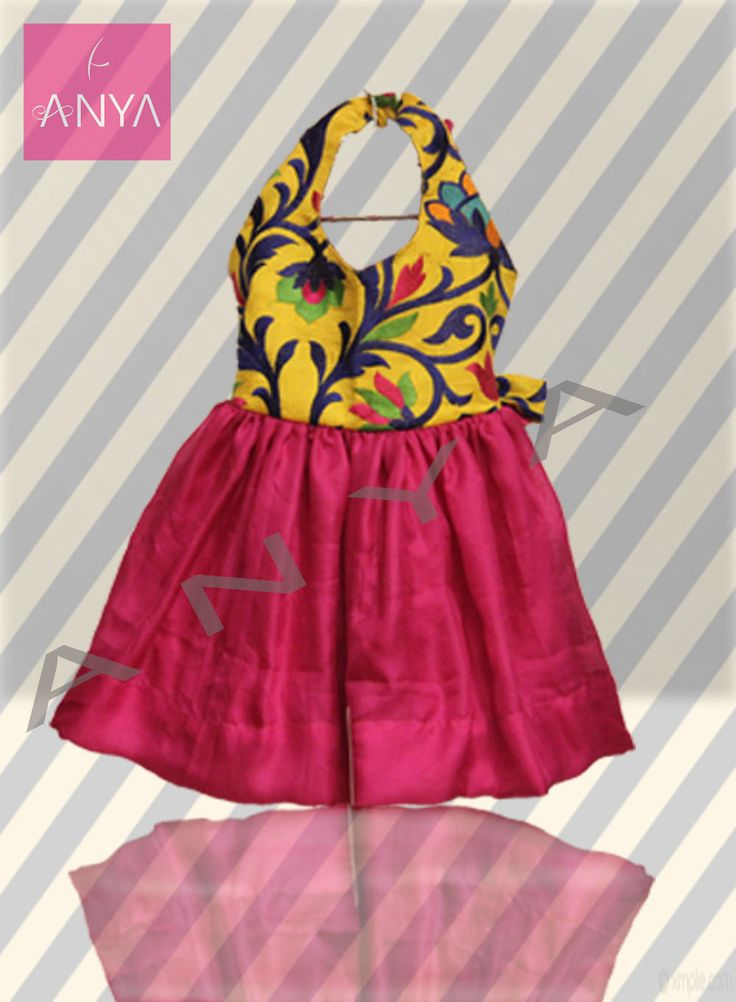 Buy Latest collection of Kids wear like, Kids Frocks, Kids gowns by Anya Boutique Coimbatore. Pink Doll Frock - Dress up your little angel in this frilly casual frock this summer.