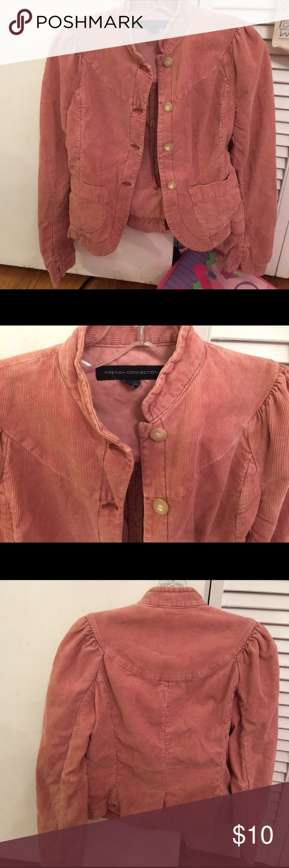 Size 4 EUC French connection rose corduroy jacket Excellent condition French connection jacket, size 4 in a dusty rose color French Connection Jackets & Coats