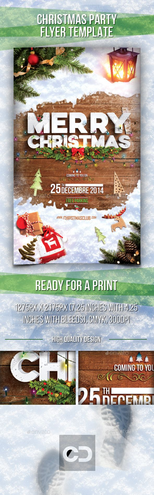 Christmas Party Flyer Template PSD | #christmasflyer #christmaspartyflyer | Buy and Download: http://graphicriver.net/item/christmas-party-flyer/9514266?ref=ksioks