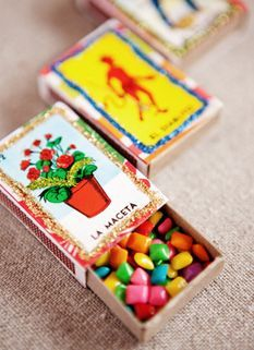 ♦ Mexican Candy in Loteria Matchboxes. Great for Cinco de Drinko or Dia de los Muertos. ♦