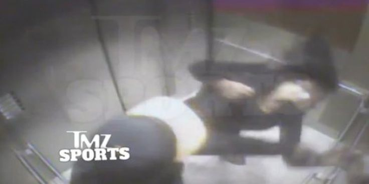 New video released by TMZ on Monday shows Baltimore Ravens running back Ray Rice knocking his then-fiancée out cold with a single punch.   The footage, captured in February in the elevator of the Revel Hotel and Casino in Atlantic City, show...
