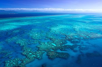 Dan Proud | Australian fine art and landscape photography | GREAT BARRIER REEF  One of the major draw cards of North Queensland, the reef. It's a magnificent sight when seen from the air.