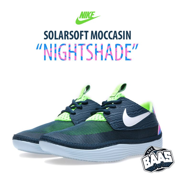 nike solarsoft moccasin nightshade smooth and light design sneakerbaas