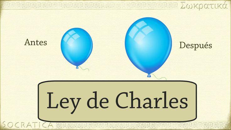 Química: Ley de Charles (relación entre la temperatura y el volumen )