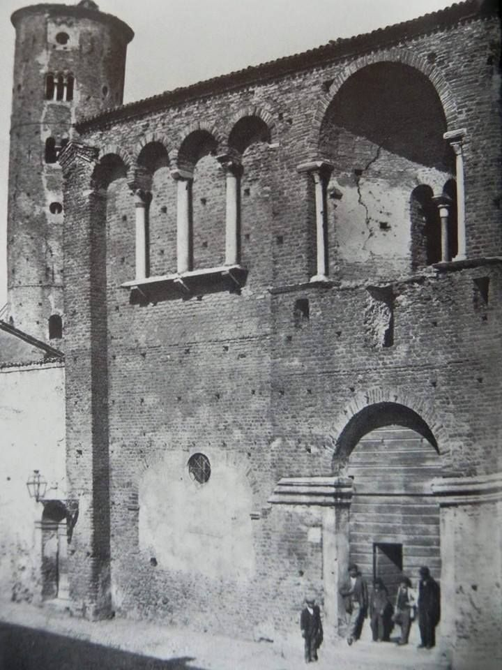 Early '800: Palazzo of Teodorico. Thanks to Roberto Stanghellini for the picture - Photo by C'era una volta Ravenna on Facebook [ #ravenna #myRavenna]