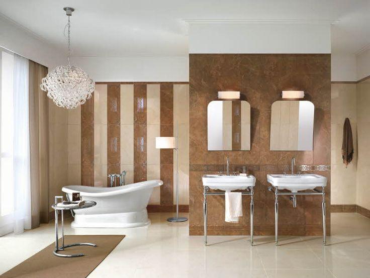 Royale-sarjan marmoriset 25 x 76 cm kokoiset seinälaatat voi latoa pystyyn tai vaakaan.Värisilmä, http://kauppa.varisilma.fi/laatat/seinalaatat/royale/ #kylpyhuone