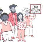 Bürger demonstrieren für ein Lobbyregister_ lobbyregister.org ist ein  Projekt von abgeordnetenwatch.de und LobbyControl: Gesetzentwurf jetzt lesen und kommentieren https://lobbyregister.org/