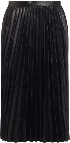 Love this: Whistles Sora Faux Leather Pleat Skirt @Lyst