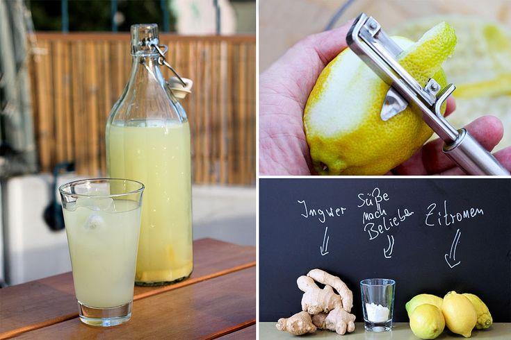 Ingwer-Zitronen-Limonade selber herstellen - KOHLENHYD-ART