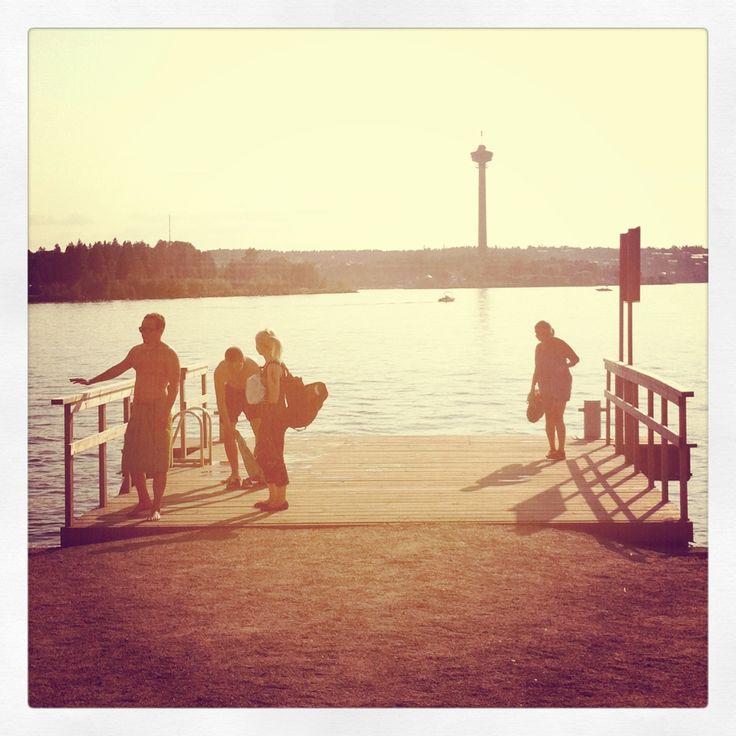 Lapinniemi pier, Tampere, Tampere, Finland. #tampereblog #tampereallbright