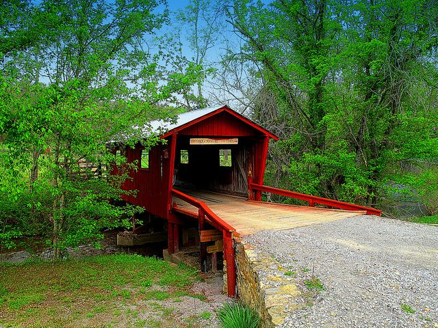 Covered bridges   Little Red Covered Bridge   Flickr - Photo Sharing!
