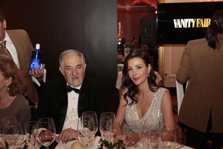 El fiscal Cándido Conde Pumpido charla con Esther Doña. - Todos los invitados a la cena de gala Personaje del Año