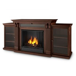 Real Flame Calie 67-inch Dark Espresso Gel Fireplace Entertainment Center - Free Shipping Today - Overstock.com - 15945443 - Mobile