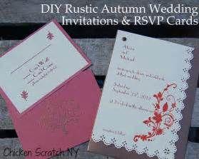 DIY Autumn Barn Wedding Invitation