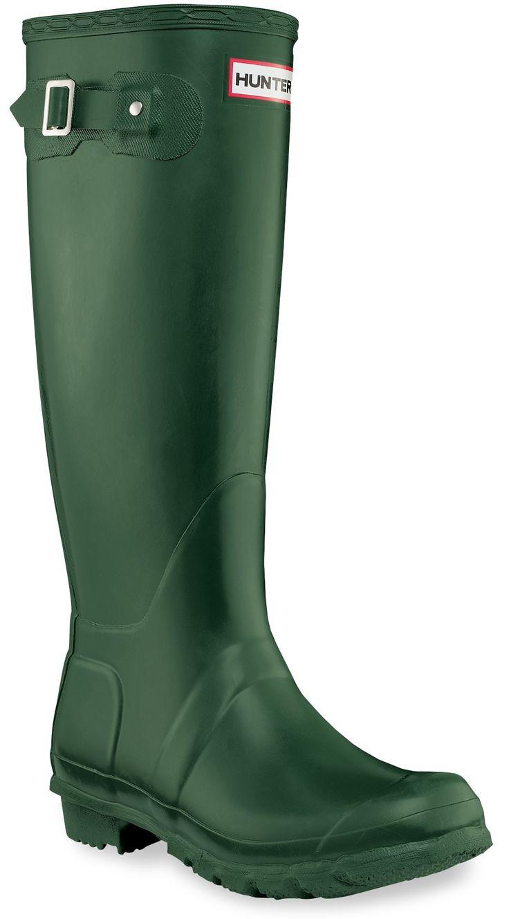 Hunter Original Wellington Rain Boots - Women's - Free Shipping at REI.com  Green Or navy. Size 7:)