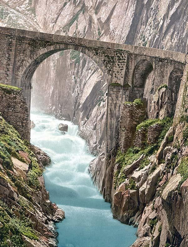 Devils Bridge, Andermatt, Switzerland ~ Wonderful adventures in Switzerland!