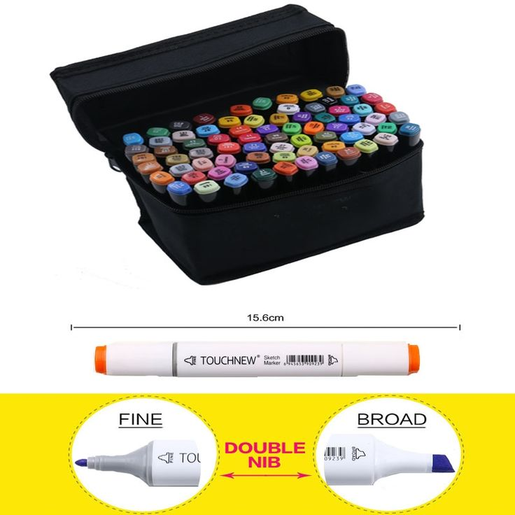 18.76$  Watch here - http://alidpd.shopchina.info/go.php?t=32669751166 - TOUCHNEW 30/40/60/80 Colors Set Artist Dual Head Sketch Copic Markers Set For School Drawing Sketch Marker Pen Design Supplies  #SHOPPING