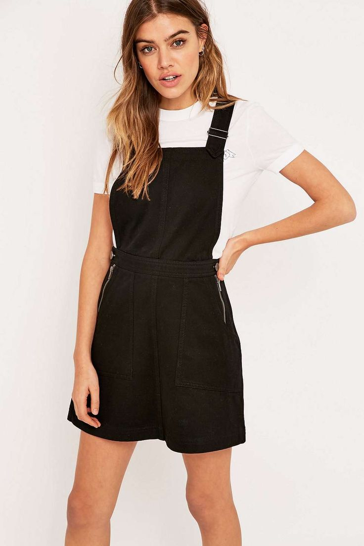 Urban Outfitters Twill Dungaree Dress
