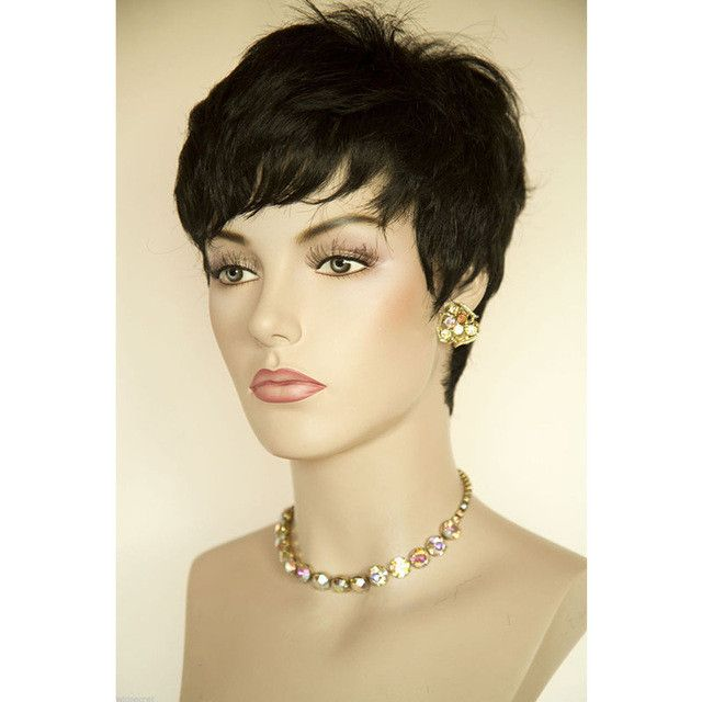 Cheap Hair Wig Hot Sale Short Pixie Cut Wigs Short Wigs For Black Women Cheap Synthetic Wigs African American Black WigPerruque