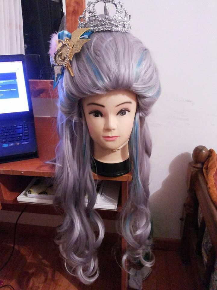 siii por fin pude armar  esta peluca   como  corresponde   :,3  <3 #Darlingcharming #cosplay #peluca