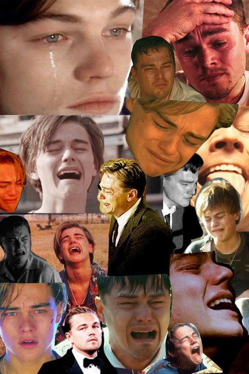 You'll never have to make a collage of Leo crying again… | 21 Jokes You Can Never Make About Leonardo DiCaprio Again