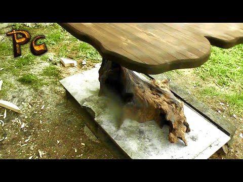 Table made of wood.  Как сделать дубовый стол за 1500 рублей. - YouTube