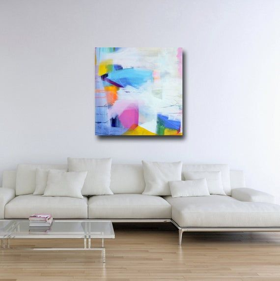 Large Abstract Canvas Print Giclee Wall Art Canvas Print From Etsy Wall Art Canvas Prints Abstract Canvas Floral Prints Art