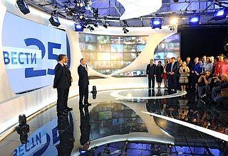 Владимир Путин поздравил коллектив ВГТРК с25-летием начала телевещания
