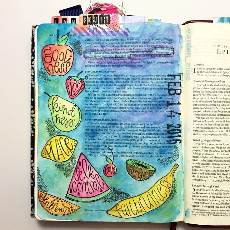 Bible journaling, Galatians 5:22-23 — Arden Ratcliff-Mann