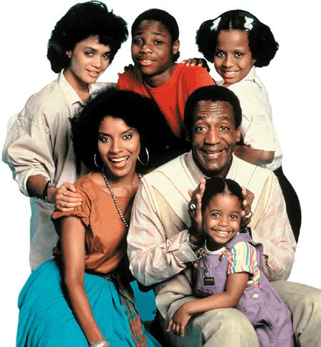 "THE COSBY SHOW - Black sitcom starring Bill Cosby, which aired for eight seasons on NBC from September 20, 1984 until April 30, 1992. The show focuses on the Huxtable family, an affluent African-American family living in Brooklyn, New York.    According to TV Guide, the show ""was TV's biggest hit in the 1980s, and almost single-handedly revived the sitcom genre and NBC's ratings fortunes"""