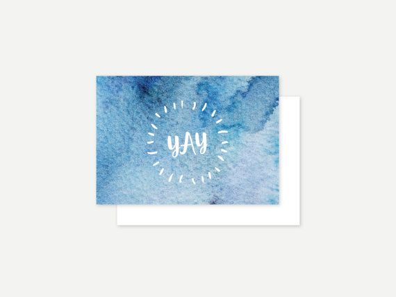 YAY greeting card by ithinkcreative on Etsy