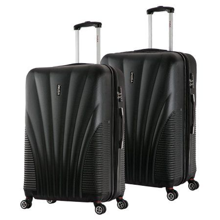 InUSA Chicago Collection Lightweight Hardside Spinner 2-Piece Set, 25 inch,29 inch, Black