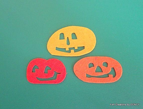 Die cut felt halloween pumpkin32 pcs felt by FeltCreationsbyDGNCY