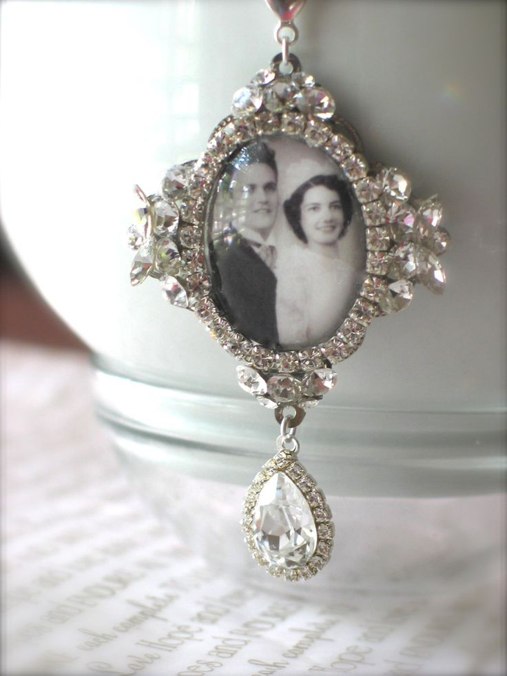 Memory Wedding Bouquet Photo Charm Unique by NinaReneeDesigns