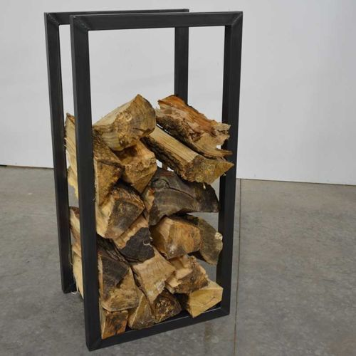 Modern Industrial Fireplace Log Holder Stand Tower New Eleventy | eBay