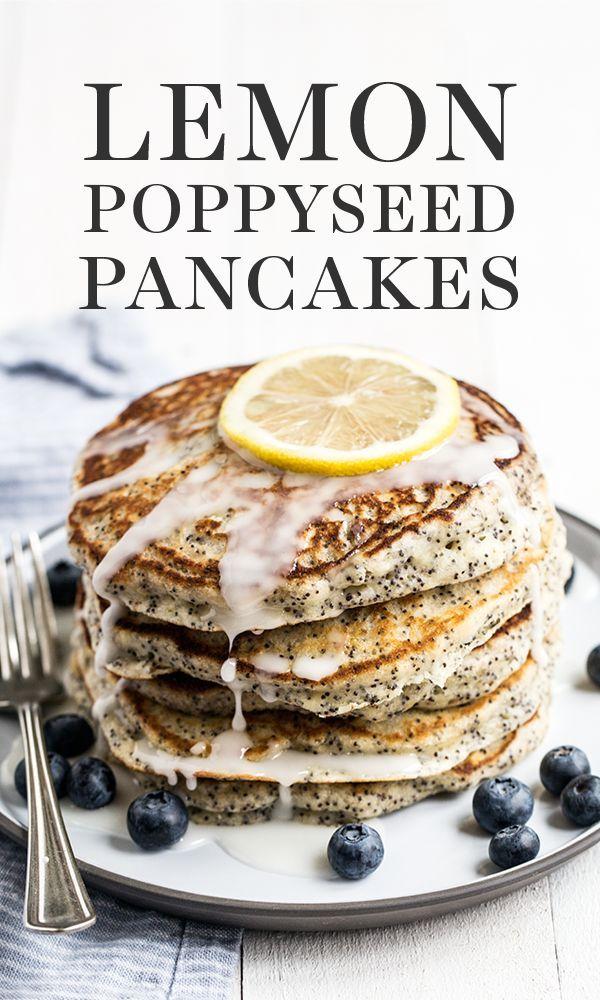 Easy Lemon Poppyseed Pancakes make the ULTIMATE homemade breakfast or brunch rec