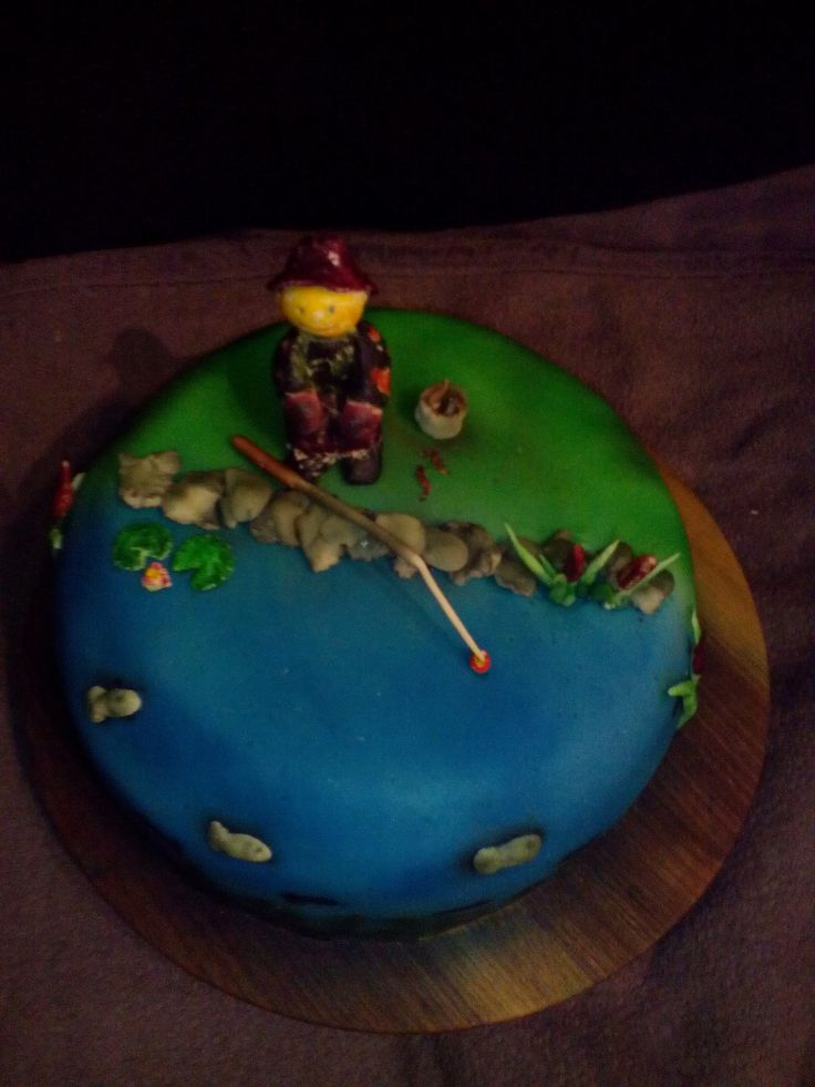 Horgászos torta