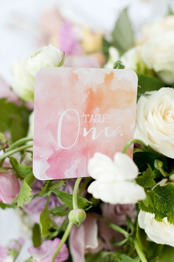 wedding reception table number idea; photo: Anna Munro