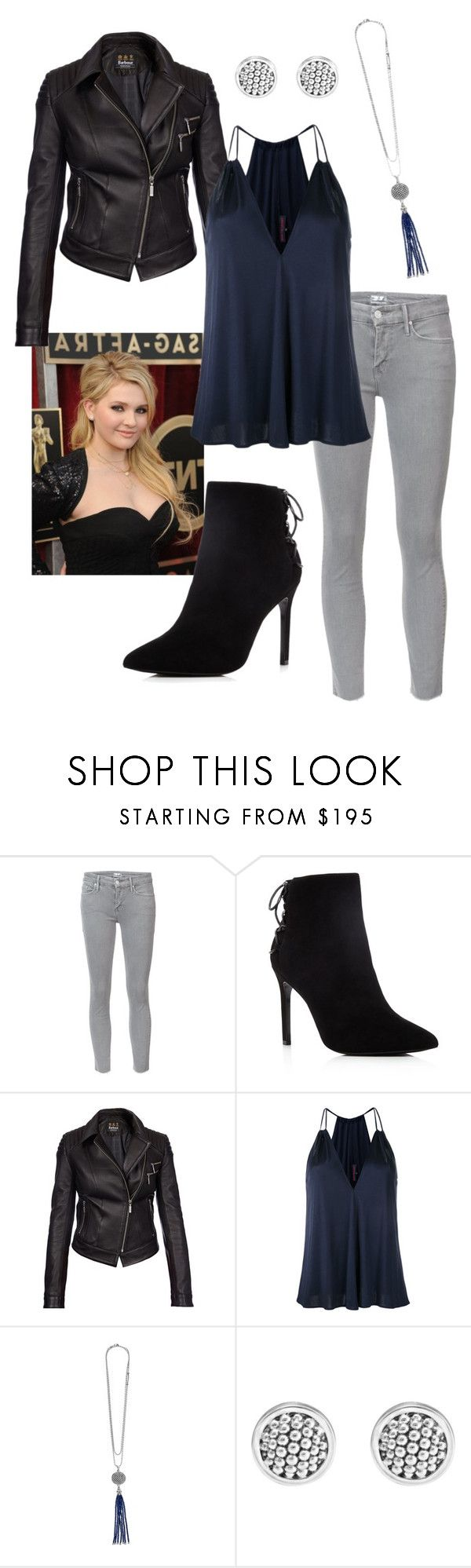 """Olivia On the Town"" by danni-foley on Polyvore featuring Mother, Charles David, Barbour International and Martin Grant"