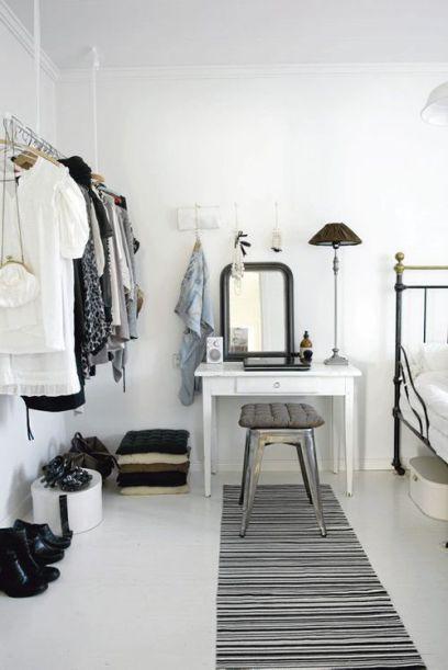 Wardrobe + iron bed frame