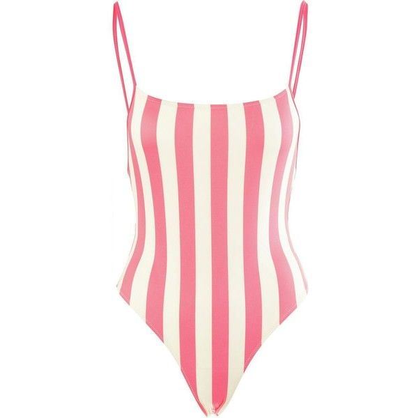 Solid & Striped Chelsea One-Piece Swimsuit ($126) ❤ liked on Polyvore featuring swimwear, one-piece swimsuits, bikini, striped bathing suit, one piece bathing suits, 1 piece bathing suits and striped swimsuit