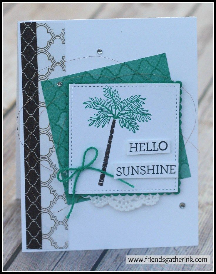 Handmade card using the stamp set Totally Trees by Stampin' Up!