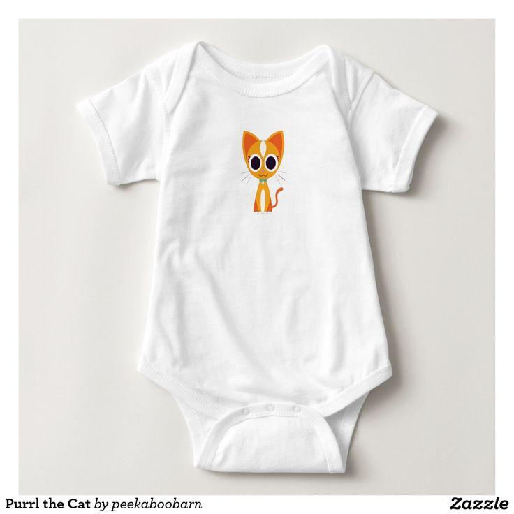 Purrl the Cat Tee Shirt. Baby, bebé. Producto disponible en tienda Zazzle. Vestuario, moda. Product available in Zazzle store. Fashion wardrobe. Regalos, Gifts. #camiseta #tshirt
