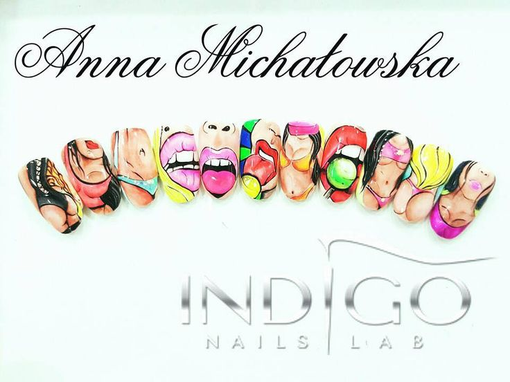 BAD ICON by Indigo Radom Anna Michałowska #nails #nail #indigo #bad #icon #wow #spring #nailart