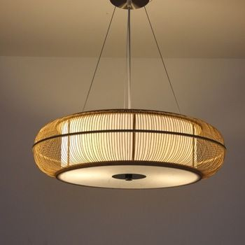Japanese style restaurant lamp single pendant light modern bamboo brief lamps wool lamp rustic lighting room