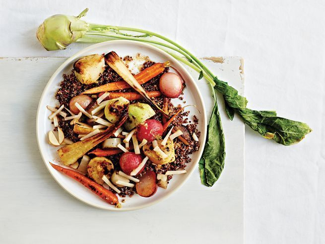 Root Vegetable and Quinoa Salad with Pickled Sunchokes