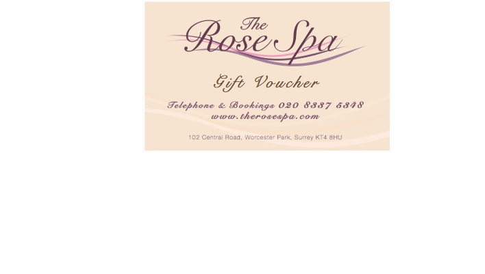 The Rose Spa gift voucher