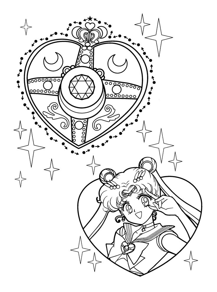 Free Sailormoon Coloring Page Pages 19 Printable