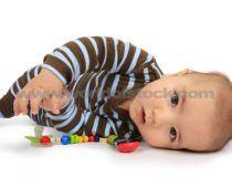 baby lying on side